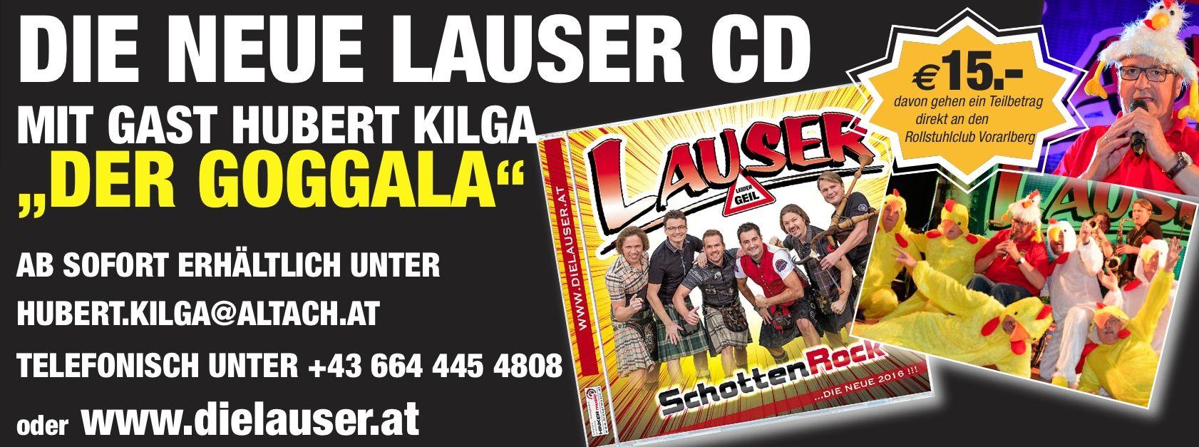 Die Neue Lauser CD – Mit Dem GOGGALA
